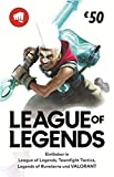 League of Legends €50 Gift Card | Riot Points | VALORANT Points