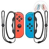 MENEEA Boxgriff für Nintendo Switch JoyCon, 2 Packungen Fangen Assist Grip Tool für Fitnessboxen mit Armbinde (Schwarz)