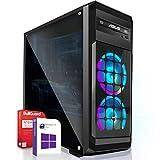 Gaming PC/Multimedia Computer inkl. Windows 10 Pro 64Bit! - AMD Quad-Core A10-9700 Pro 4x3.8GHz - Radeon HD R7 Grafik mit 4GB HyperMemory 8xCore APU - 16GB DDR4 RAM - 256GB SSD - 24-Fach DVD