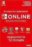 Nintendo Switch Online Mitgliedschaft - 12 Monate | Switch Download Code