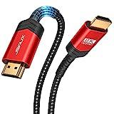 8K HDMI Kabel 3Meter, JSAUX HDMI 2.1 Kabel Highspeed Ethernet 48Gbps 8K@60Hz, 4K@120Hz, UHD HDR 10+, eARC, Dolby Vision, 3D, VRR, Kompatibel mit PS4 Pro, PS5, 8K Gaming, TV, Blu-ray-Player, Projektor
