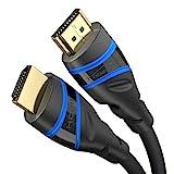 KabelDirekt – HDMI 2.1 Kabel, Ultra High Speed, Zertifiziert – 3 m – 8K@60Hz, 48G, neuester Standard, offiziell lizenziert/getestet für perfekte Qualität, optimal für PS5/Xbox, blau/schwarz