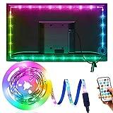 TV Hintergrundbeleuchtung OMERIL 3M Led Strip USB LED Band Streifen,16 Farben und 21 Modus, RGB Led Beleuchtung Fernseher mit 25-Key Fernbedienung, für 40-75 Zoll HDTV/Gaming PC-Bildschirm