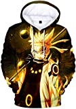PANOZON Herren 3D Druck Naruto Manga Anime Kapuzenpullover Outwear Unisex Hoodie KW0451 S