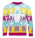 numskull Unisex Offiziell Fall Guys gestrickter Weihnachtspullover für Männer oder Frauen - Hässliche Neuheit Pullover-Geschenk