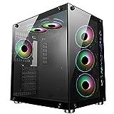 CiT Jupiter Mid-Tower ATX ARGB PC-Gaming-Gehäuse | Schwarz