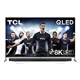TCL 75X915 8K QLED Fernseher Smart TV (HDR Premium 1000 nits, Dolby Vision Atmos, ONKYO Audiosystem, IMAX Enhanced, Android TV, Prime Video, Google Assistant & Alexa kompatibel, HDMI 2.1)
