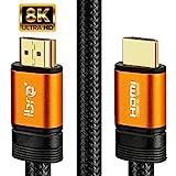 8K Premium 2.1 HDMI Kabel Ultra HDTV 8K HDMI Kabel – 1,5 Meter, 48 Gbit/s, 4K@120Hz / 8K@60Hz, Dynamic HDR-10+, eARC, Variable Refresh Rate (VRR), Dolby Vision, 1.5m IBRA Orange