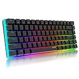Mechanische Tastatur Gaming RGB Beleuchtung Blau Schalter 82 Taste, AJAZZ AK33 QWERTY Kabelgebundene Tastatur Hintergrundbeleuchtung Edition Mechanische Gaming Mini Tastatur-Schwar