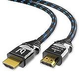 Ultra HDTV 8K HDMI-Kabel - 2 m Ultra High Speed HDMI 2.1 Kabel (48 Gbps) für 8K@60Hz & 4K@120Hz - Premium Zertifikat - PS5 & Xbox Series X Ready - mit Vollmetall-Stecker und Nylon-Mantel