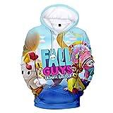 Fall Guys: Ultimate Knockout 3D Hoodies Casual Style Kleidung Damen Herren 3D Kleidung Slim Harajuku Cool Bequem Hoodie Gr. Small, weiß
