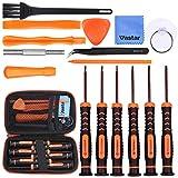 Vastar Schraubendreher für Nintendo Werkzeug Set 16 Stück für Nintendo New 3DS und Wii/NES/SNES/NDS/NDSL/XL 2DS/ GBA/Gamecube Reparatur Werkzeuge Set (Orange)