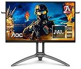 AOC AGON AG273QZ - 27 Zoll QHD Gaming Monitor, 240 Hz, 0.5ms, HDR400, FreeSync Premium Pro (2560x1440, HDMI, DisplayPort, USB Hub) schwarz