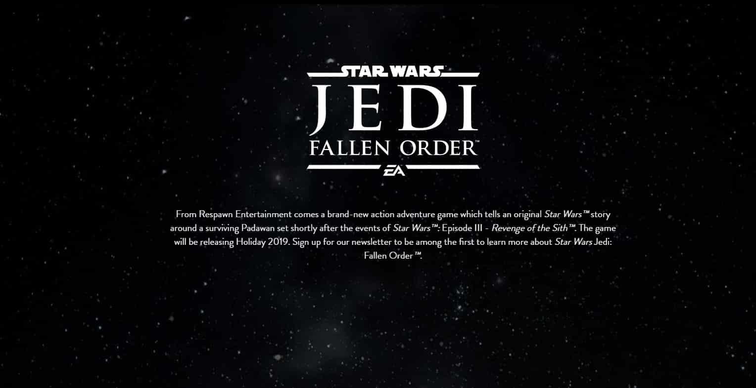 Star Wars Jedi Fallen Order Teaser Da Mehr Am Wochenende