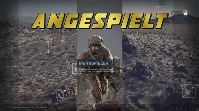 Angespielt CoD MW Header