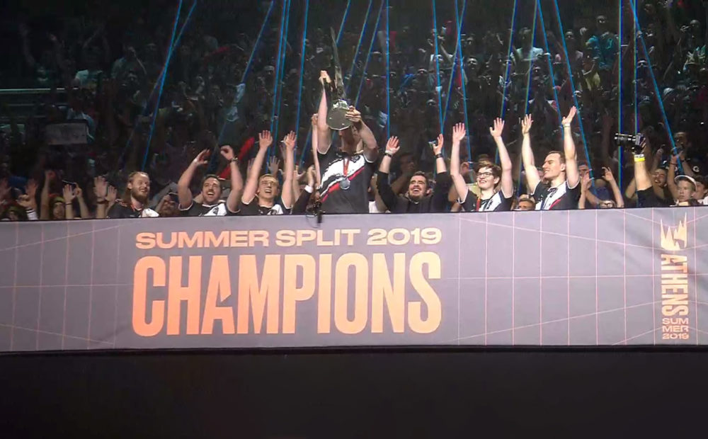 Riot Games G2 vs. FNC Finals LEC Summer G2 Esports vs. Fnatic 2019 Twitch Google Chrome 08.09