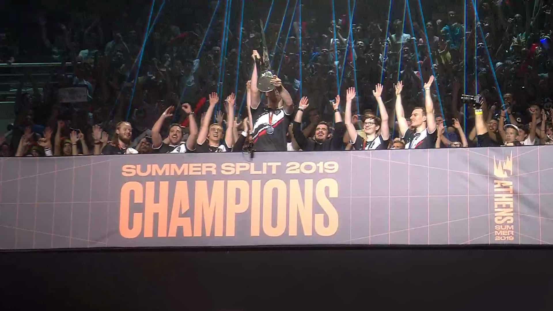 Riot Games G2 vs. FNC Finals LEC Summer G2 Esports vs. Fnatic 2019 Twitch Google Chrome 08.09