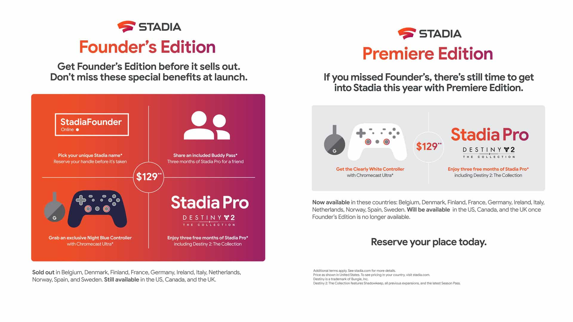 stadia versionen founders ausverkauft babt
