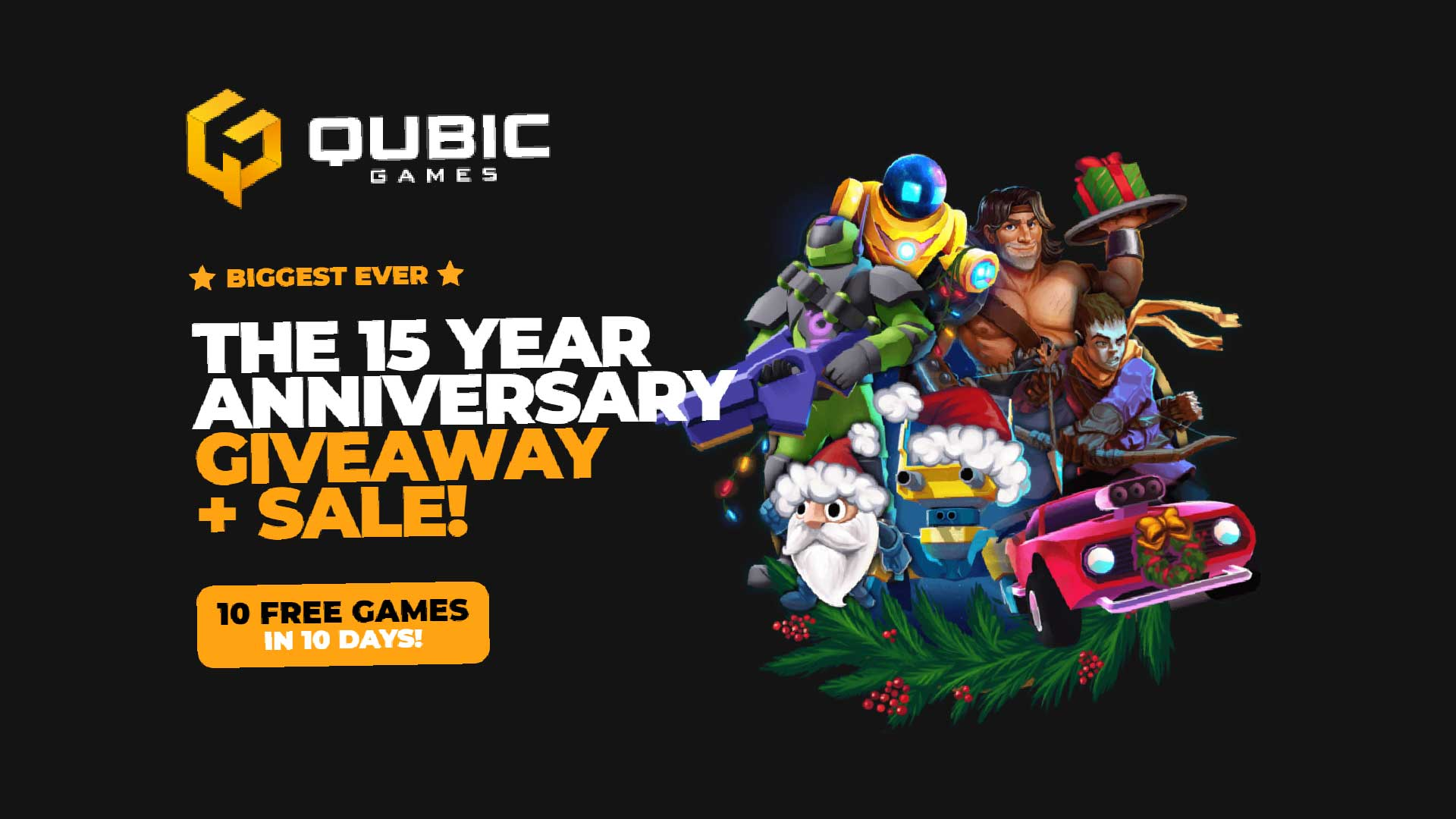 qubicgames anniversary giveaway