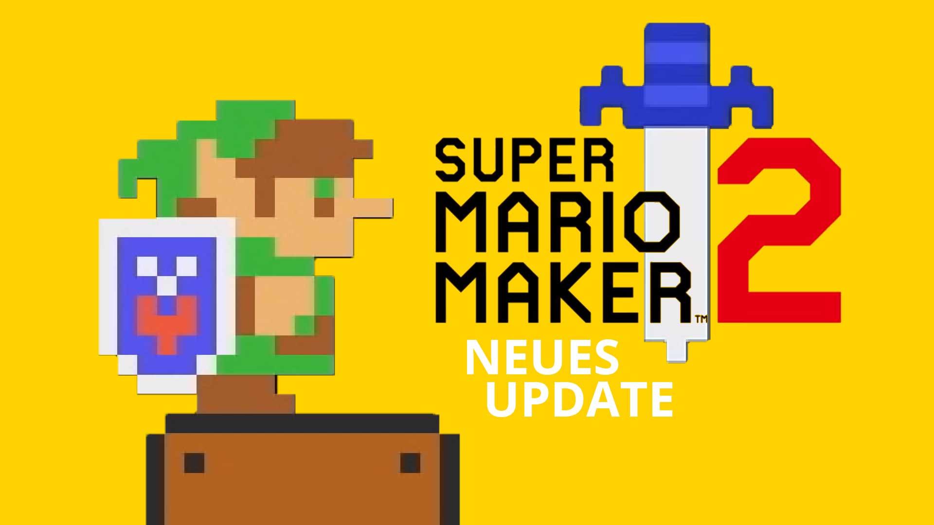 super mario maker 2 zelda update