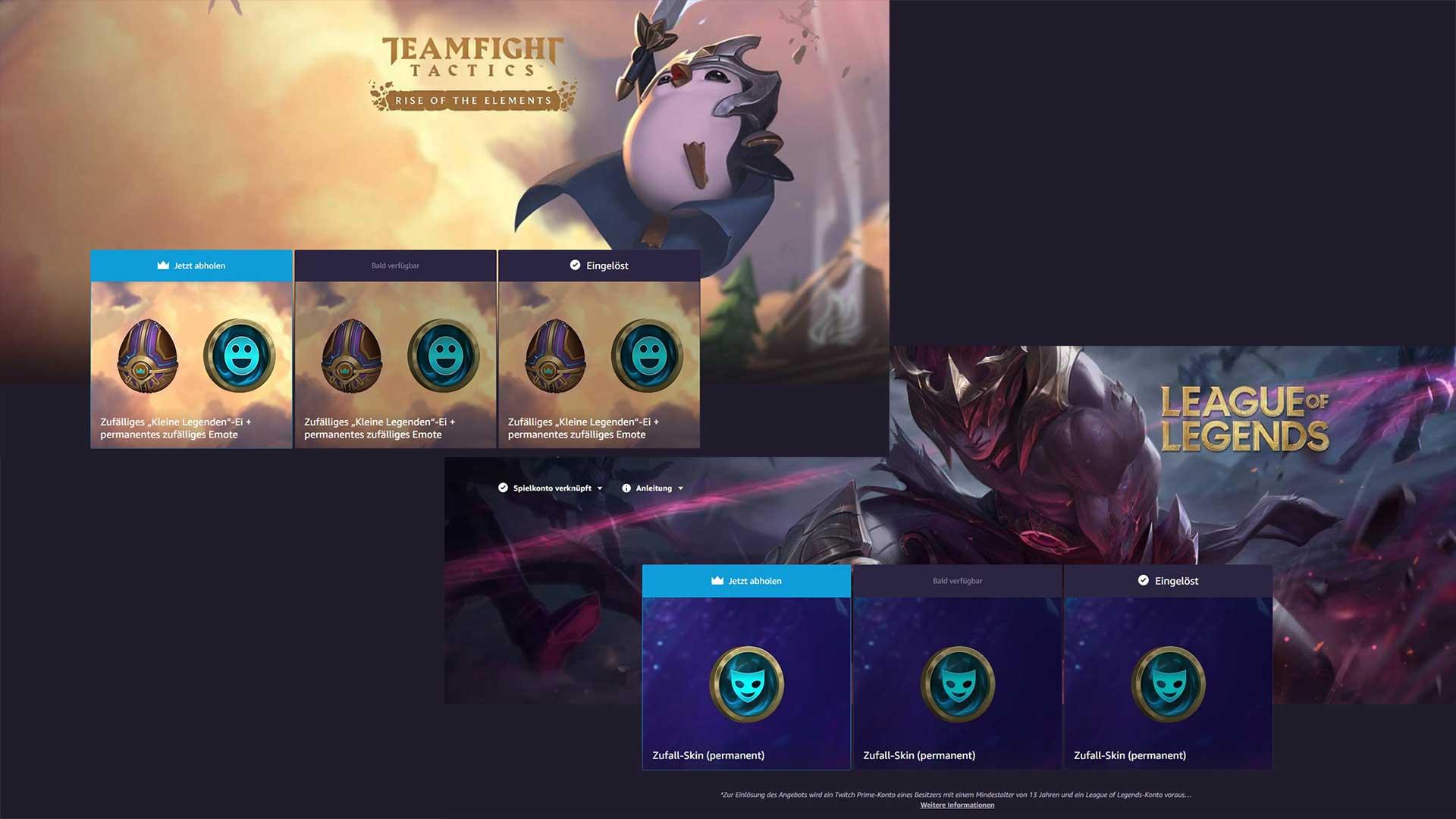 Acalendar Anleitung twitch prime: neue gratis skins für lol und tft | gaming