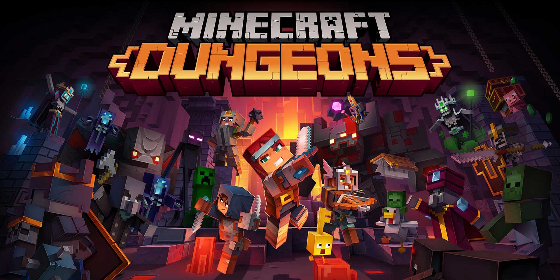 59 200326 NSW NintendoSwitch MinecraftDungeons KeyArt