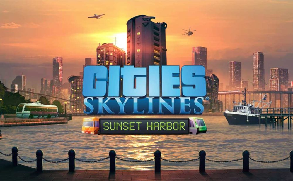 City Skylines Sunset Harbor Key Art babt