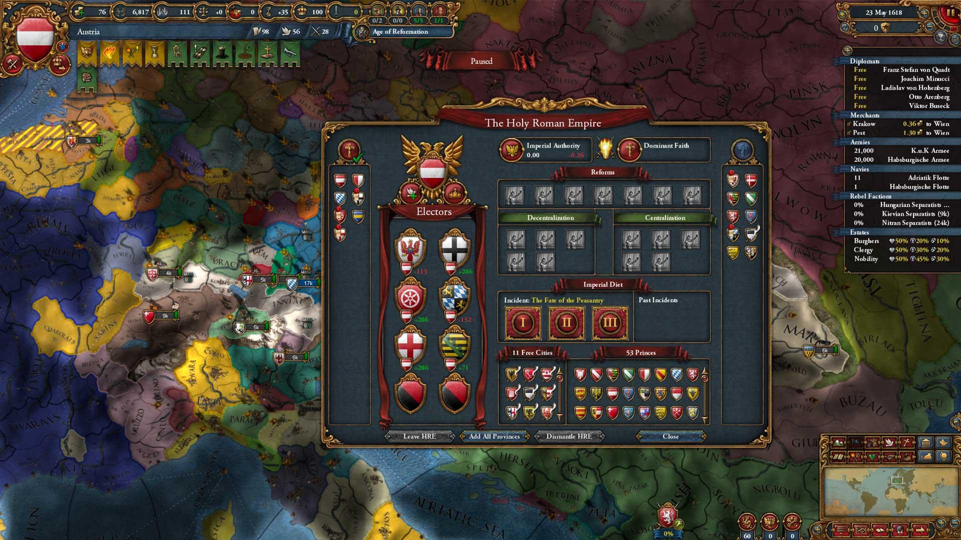 Europa Universalis IV Emperor Holy Roman Empire babt
