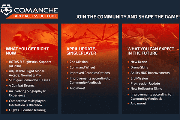 comanche steam roadmap