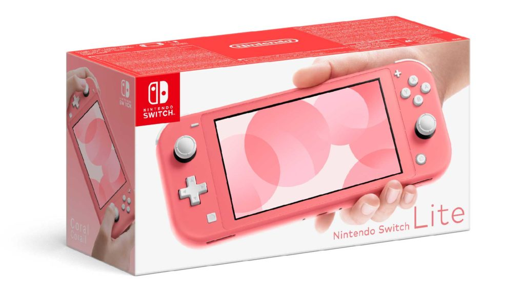 nintendo switch lite koralle box
