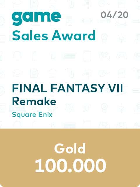 game Sales Award 20 04 Square Enix Final Fantasy VII Remake