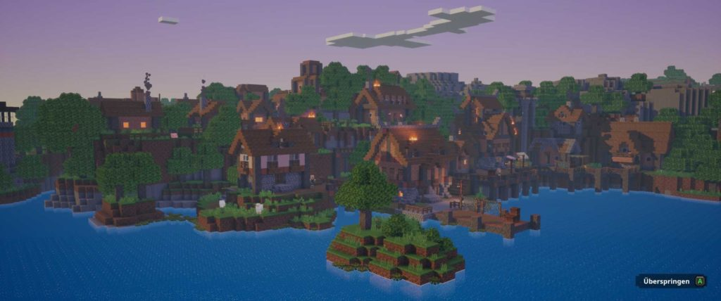 minecraft dungeons angespielt screen village