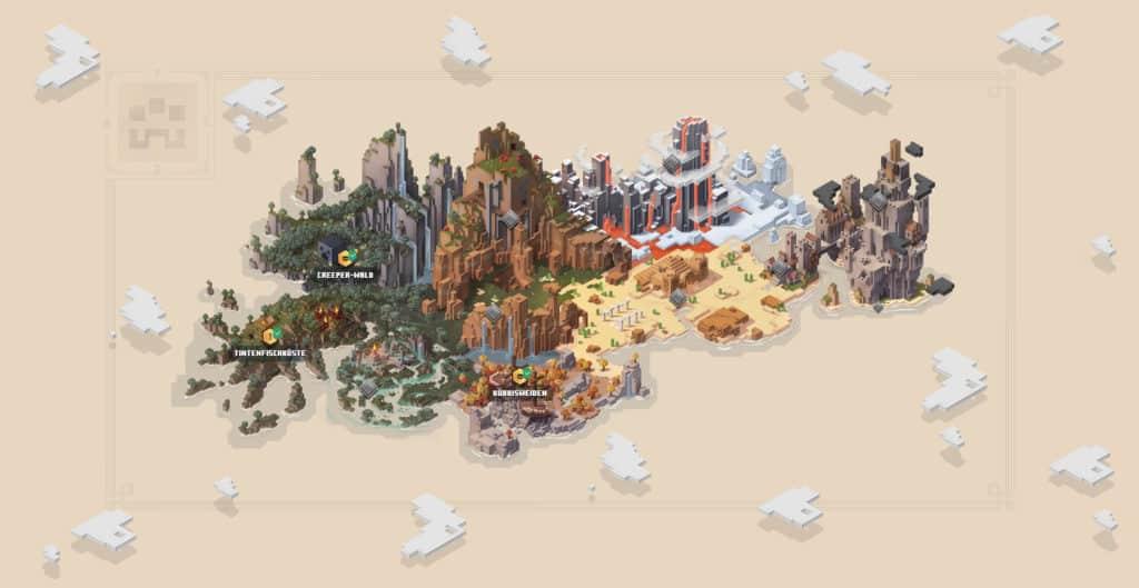 Minecraft Dungeons Weltkarte