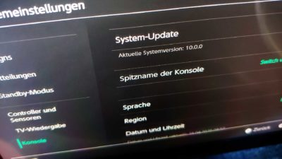 nintendo switch firmware update version 10 0 0