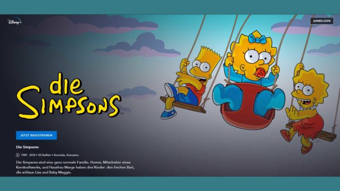 die simpsons disney babt