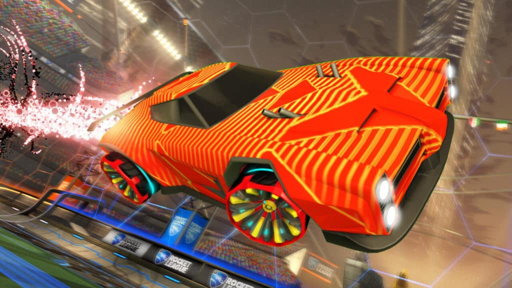 Vector Decal (Dominus), Grappler Wheels, Quasar Boost. Quelle: Psyonix