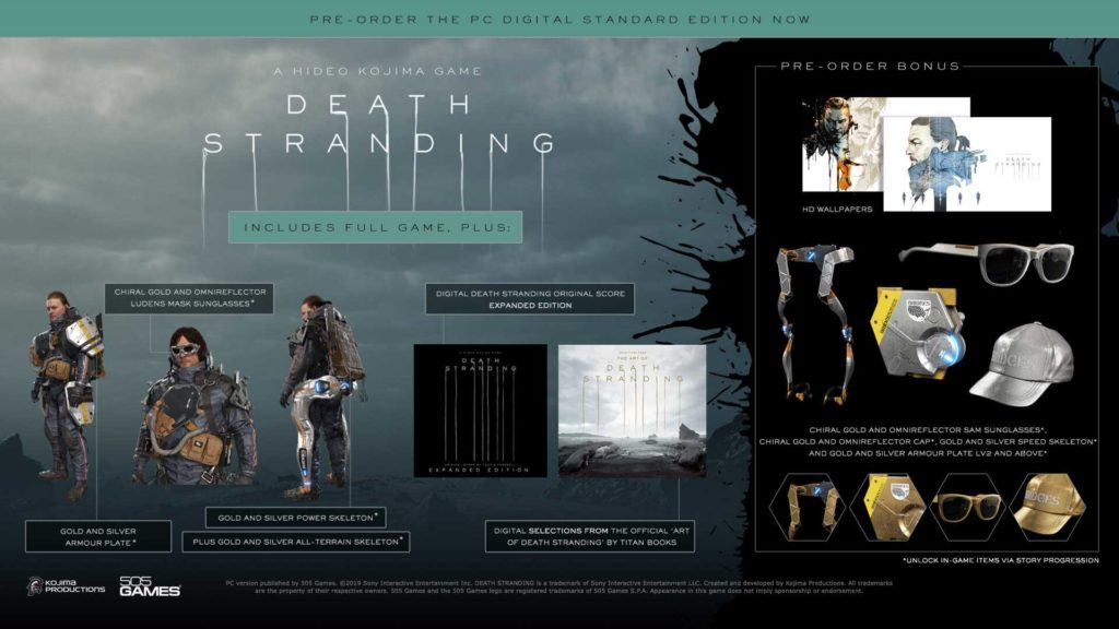 death stranding pc preorder