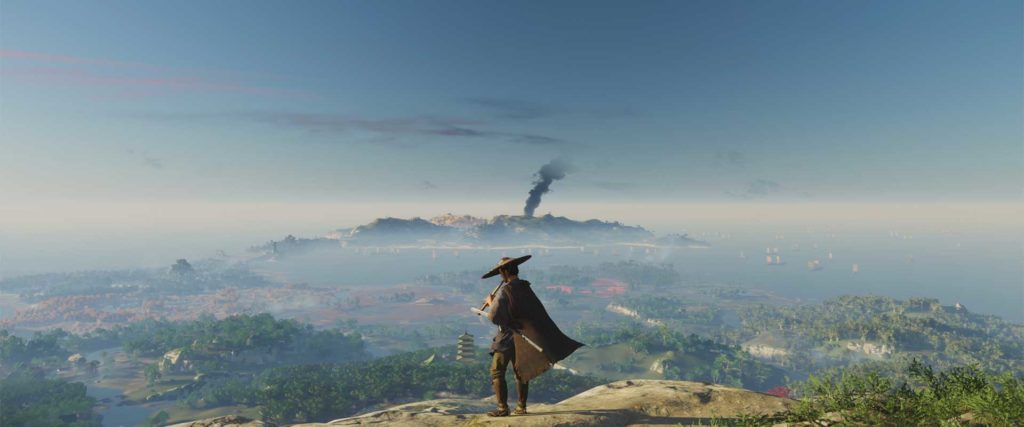 ghost of tsushima landschaft floete
