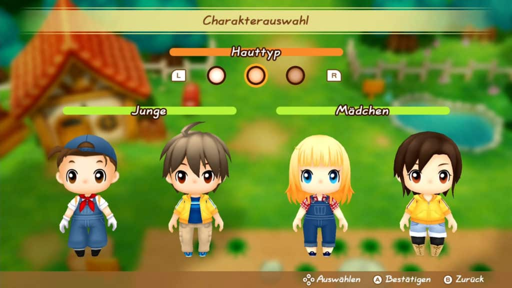 story of seasons fomt charakter auswahl