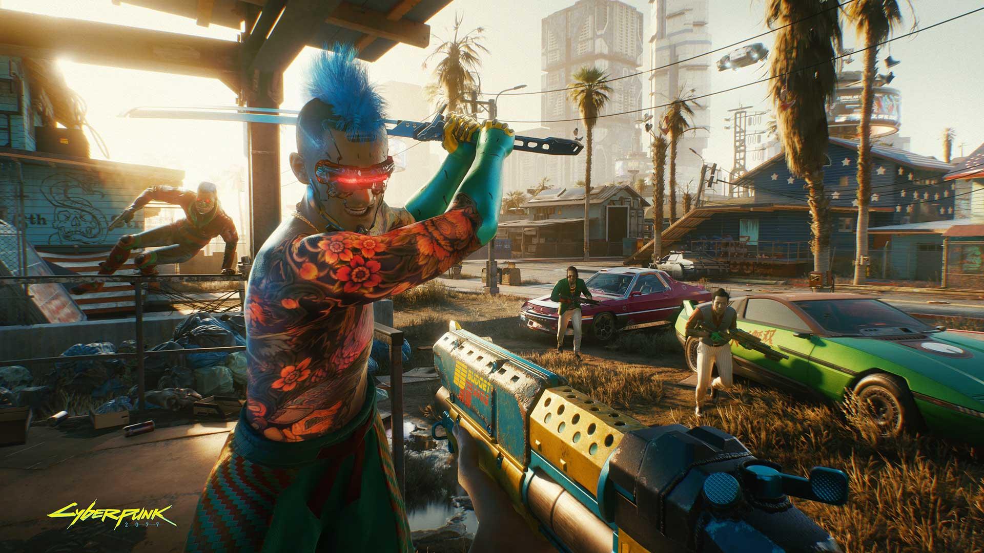 Cyberpunk2077 Always bring a gun to a knife fight RGB en babt