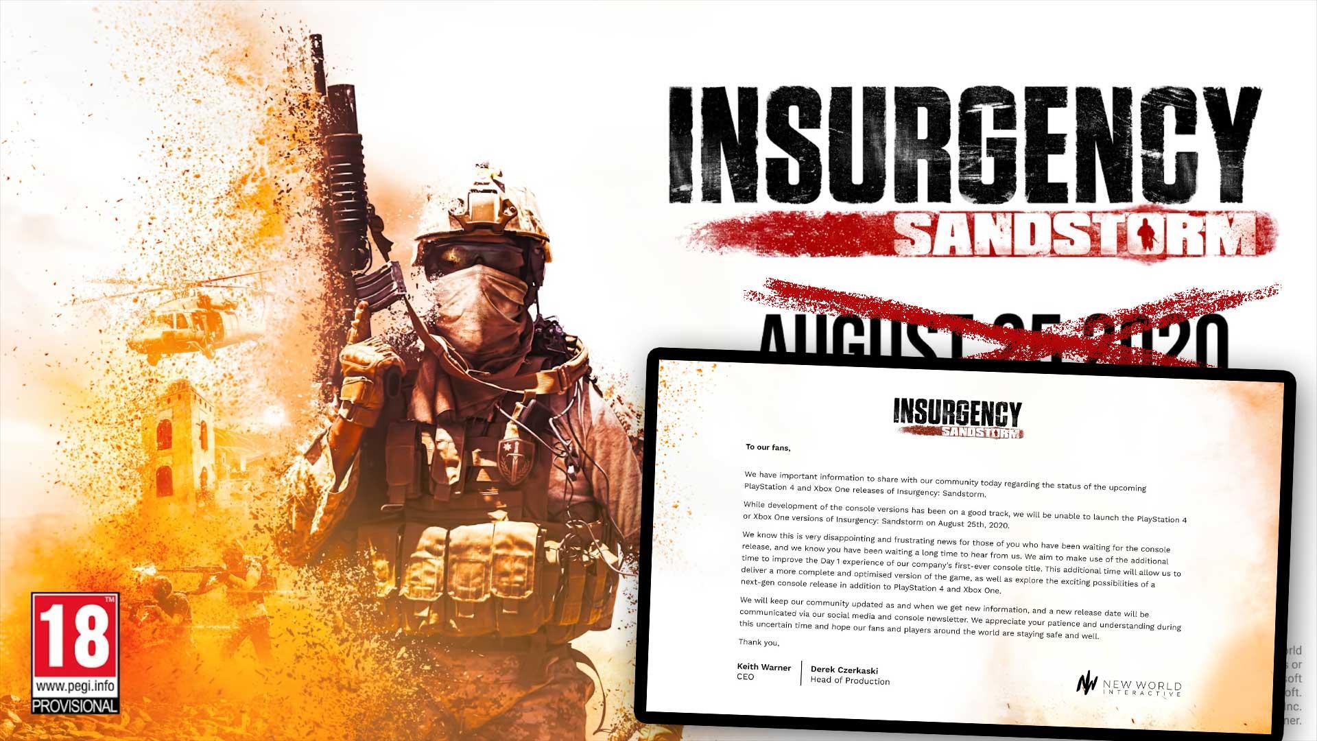 insurgency sandstorm verschoben