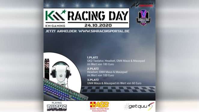 km racing day simracing