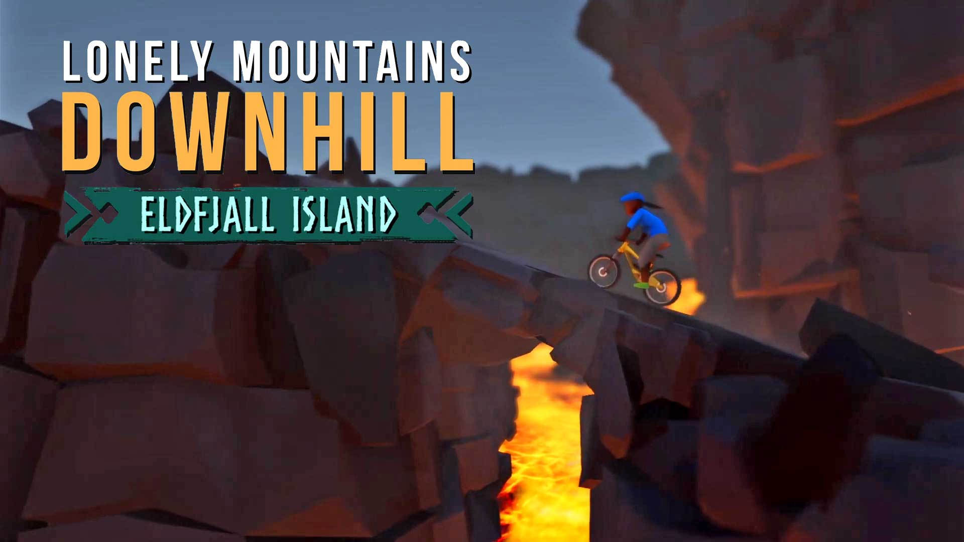 lonely mountains downhill dlc eldfjall island cover