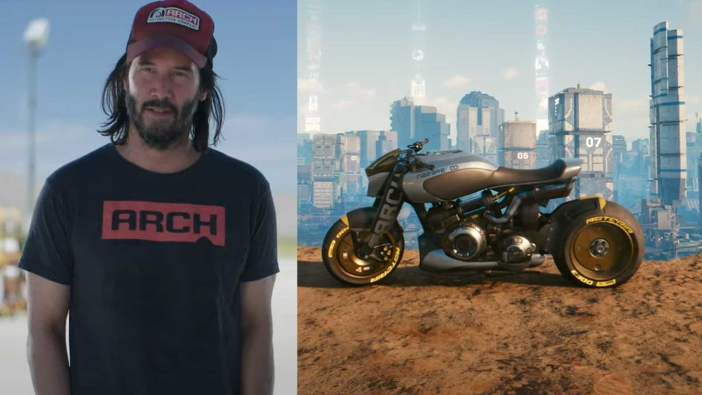 cyberpunk 2077 keanu reeves arch motorcycles