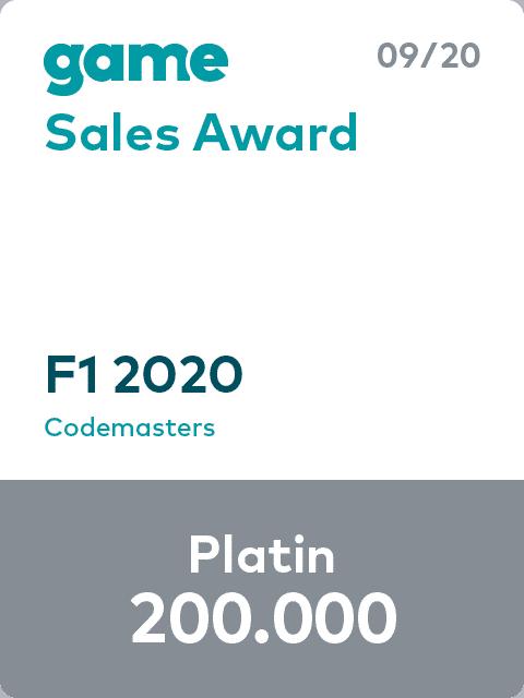 game Sales Award 20 09 F1 2020 Platin Label L