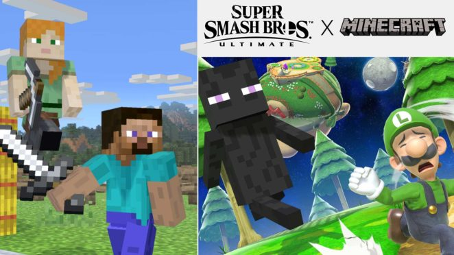 ssbu mine craft steve alex details