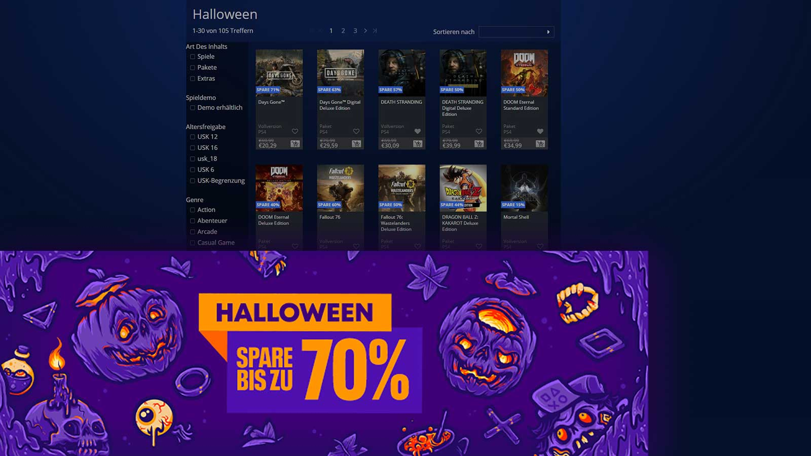 store halloween angebote screen babt