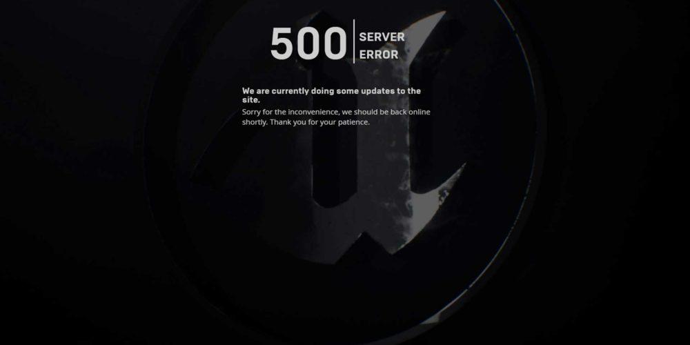 EGS server error