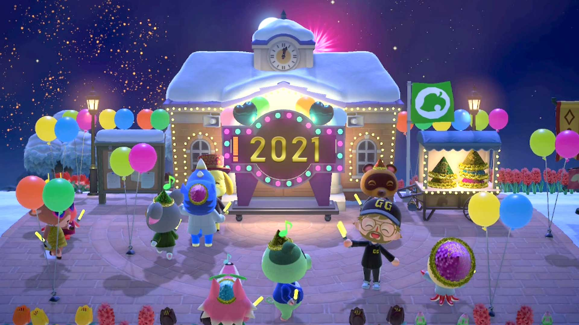 acnh new year 2021