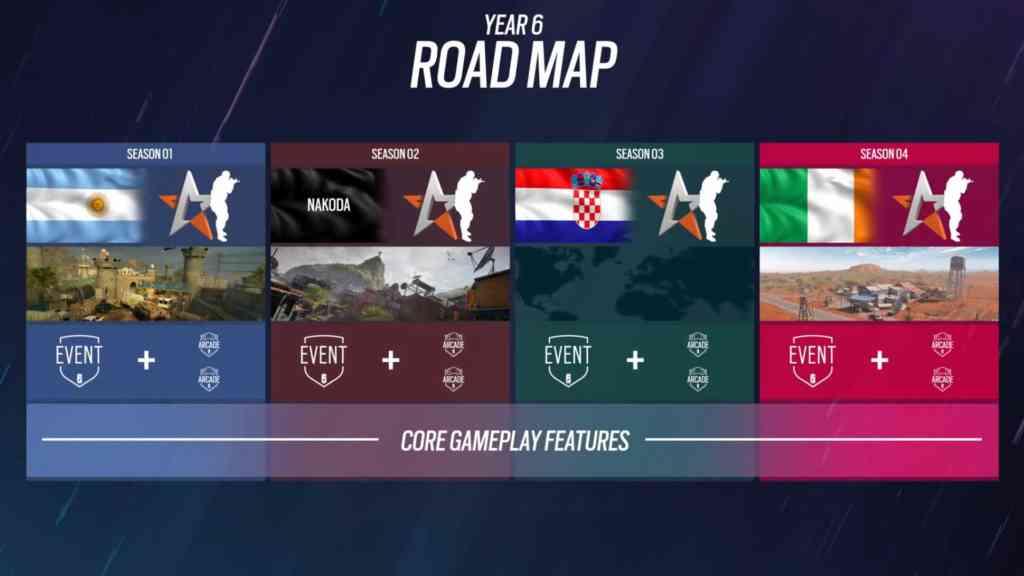 Die Roadmap für Jahr 6. Quelle: Ubisoft